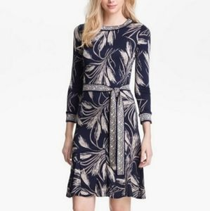 Tory Burch Claire Silk A-line Wheat Dress
